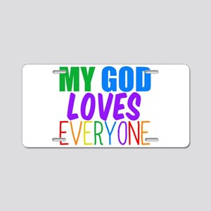 My God Loves Aluminum License Plate
