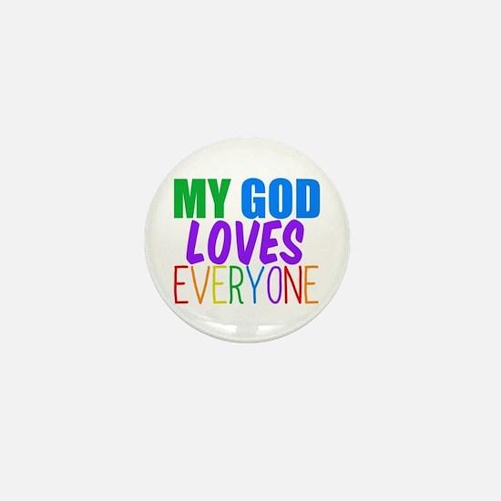 My God Loves Mini Button