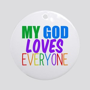 My God Loves Ornament (Round)