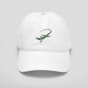 Mosaic Polygon Green Lizard Baseball Cap