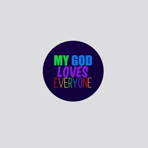 My God Loves Mini Button