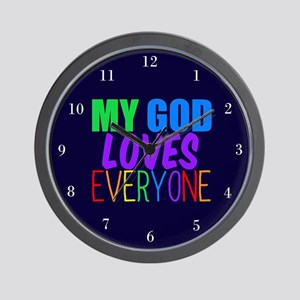 My God Loves Wall Clock