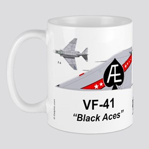 F-4 Phantom Ii Vf-41 Black Aces Mug Mugs