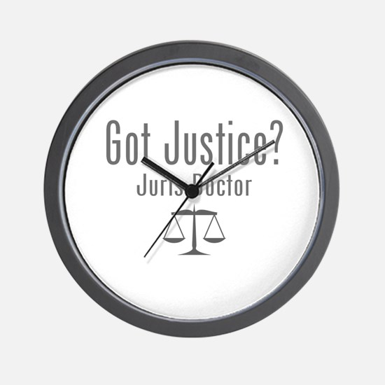 Got Justice? - Juris Doctor Wall Clock
