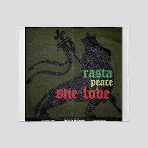 Rasta Peace One Love Throw Blanket