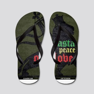 Rasta Peace One Love Flip Flops