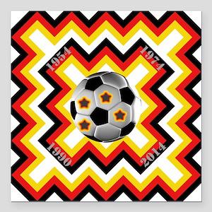 "World Cup 2014/ WM 2014 Square Car Magnet 3"" x 3"""