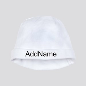 Black Custom Name Baby Hat