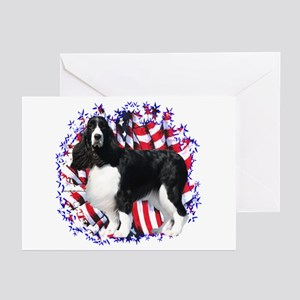 English Springer Patriotic Greeting Cards (Package