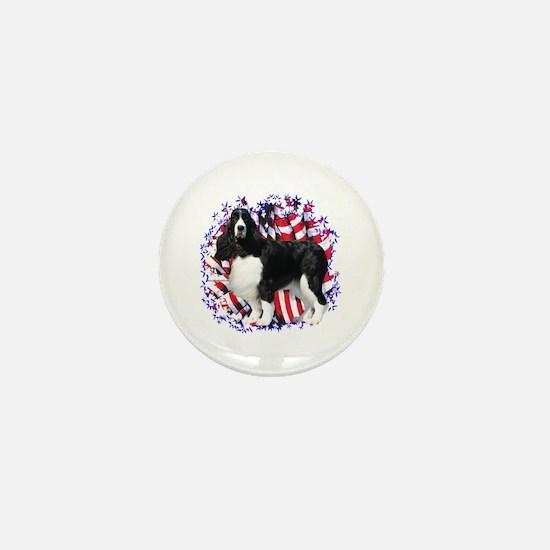 English Springer Patriotic Mini Button