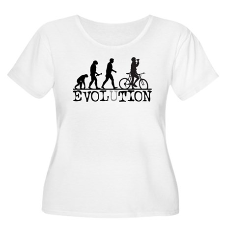 EVOLUTION Biking Women's Plus Size Scoop Neck T-Sh