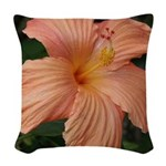 Hibiscus Woven Throw Pillow