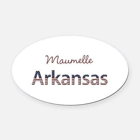 Custom Arkansas Oval Car Magnet