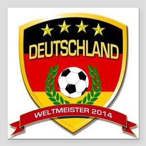"Deutschland Weltmeister 2014 Square Car Magnet 3"""