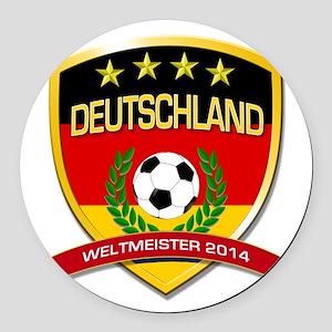 Deutschland Weltmeister 2014 Round Car Magnet