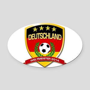 Deutschland Weltmeister 2014 Oval Car Magnet