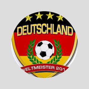 """Deutschland Weltmeister 2014 3.5"""" Button"""