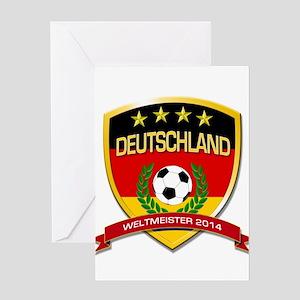 Deutschland Weltmeister 2014 Greeting Cards