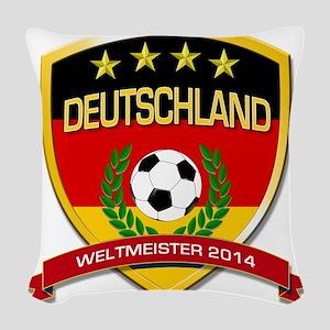Deutschland Weltmeister 2014 Woven Throw Pillow