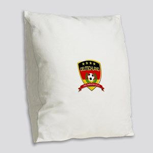 Deutschland Weltmeister 2014 Burlap Throw Pillow