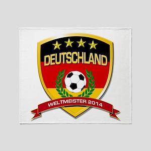 Deutschland Weltmeister 2014 Throw Blanket