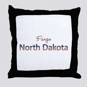Custom North Dakota Throw Pillow