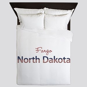 Custom North Dakota Queen Duvet