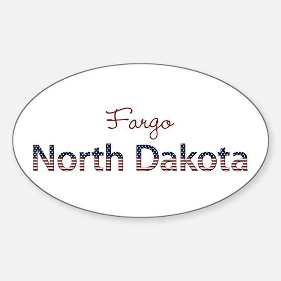 Custom North Dakota Sticker (Oval)