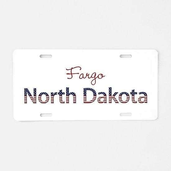Custom North Dakota Aluminum License Plate