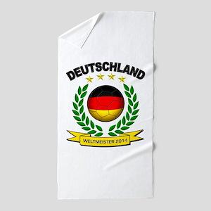 Deutschland Weltmeister 2014 Beach Towel