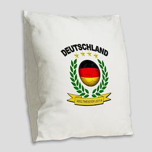 Deutschland Weltmeister 2014 Burlap Throw Pillow