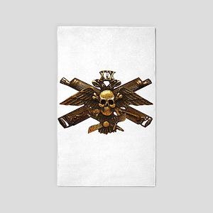 Brass Imperial Eagle Skull Machine Guns 3'x5' Area