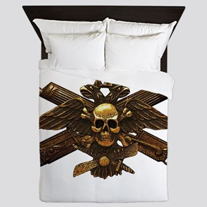 Brass Imperial Eagle Skull Machine Guns Queen Duve