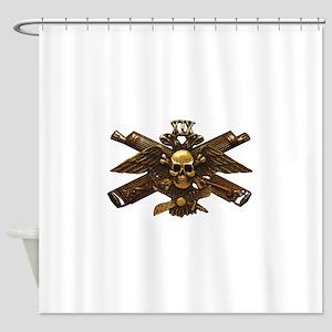 Brass Imperial Eagle Skull Machine Guns Shower Cur