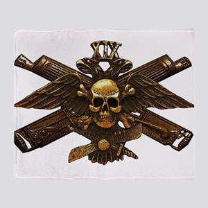 Brass Imperial Eagle Skull Machine Guns Throw Blan