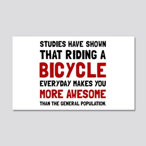 Bicycle More Awesome Wall Decal