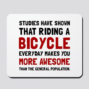 Bicycle More Awesome Mousepad