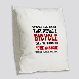 Bicycle More Awesome Burlap Throw Pillow