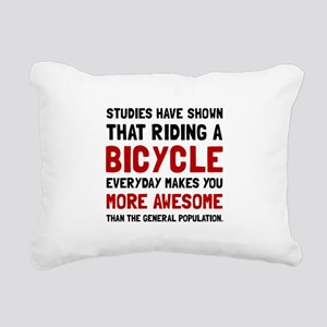 Bicycle More Awesome Rectangular Canvas Pillow