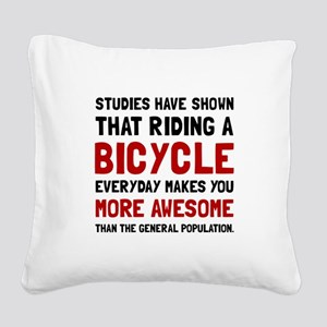 Bicycle More Awesome Square Canvas Pillow