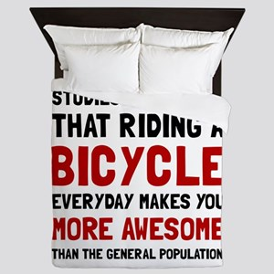 Bicycle More Awesome Queen Duvet