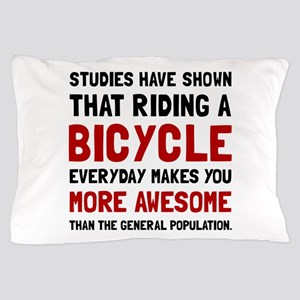 Bicycle More Awesome Pillow Case