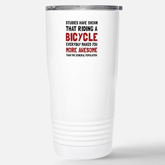 Bicycle More Awesome Travel Mug