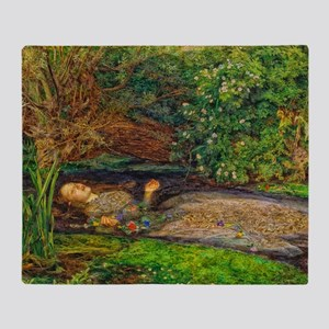Millais: Drowning Ophelia Throw Blanket