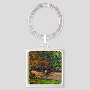 Millais: Drowning Ophelia Square Keychain