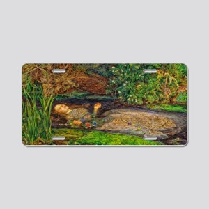 Millais: Drowning Ophelia Aluminum License Plate