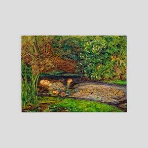Millais: Drowning Ophelia 5'x7'Area Rug