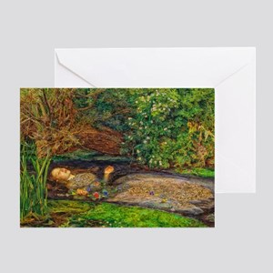 Millais: Drowning Ophelia Greeting Card