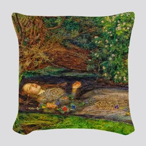 Millais: Drowning Ophelia Woven Throw Pillow