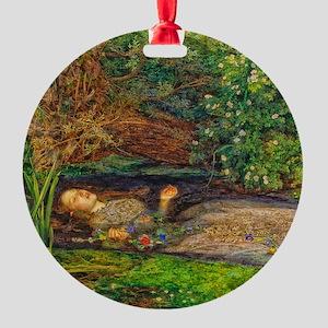 Millais: Drowning Ophelia Round Ornament